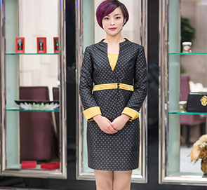中式唐装行政服务员工作服