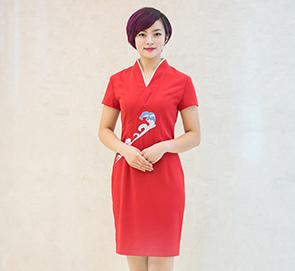 中式唐装大堂服务员工作服