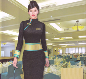 中式酒店迎宾服
