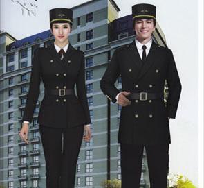 酒店秋冬保安服