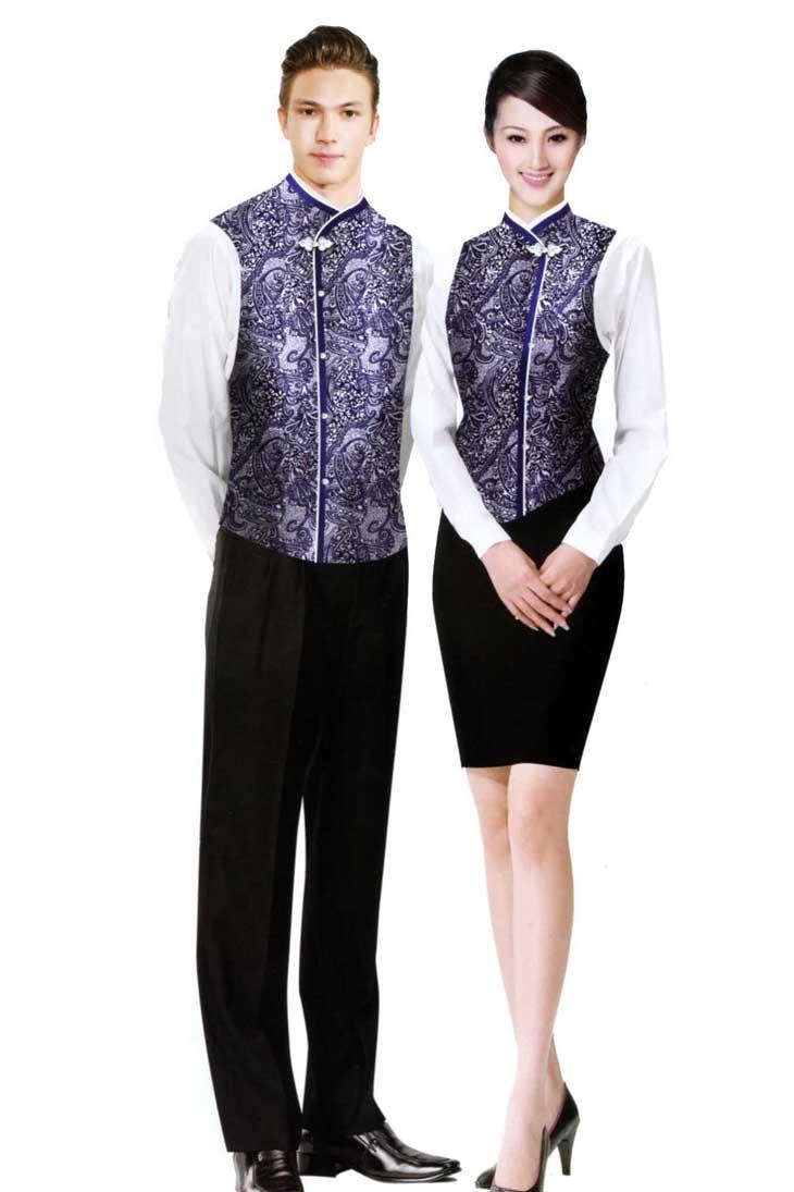 酒店服务员 餐饮部工作服 韵蔓服装 企业工服一站式